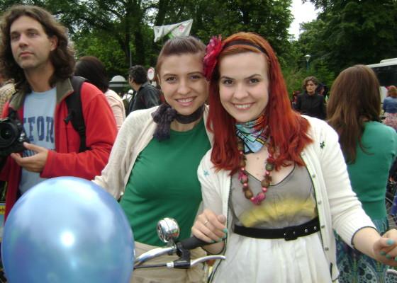 Cu Ioana, o biciclista sic :)